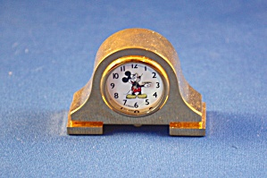 Brass Mickey Anniversary Clock