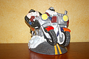 Bugs & Taz On Motorcycles Cookie Jar