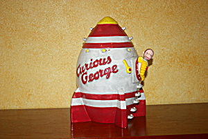 Curious George In Rocket Cookie Jar