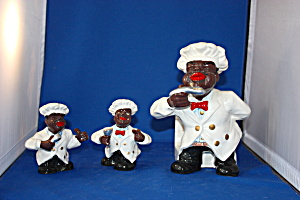 Cooking Chef Salt & Pepper & Napkin Holder