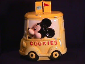 Mickey Taxi Cookie Jar