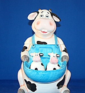 COW COOKIE JAR AND SALT & PEPPER (Image1)