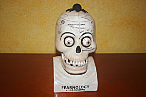 Dept 56 Skull Phrenology Cookie Jar