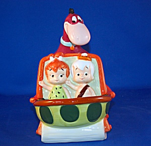 DINO PUSHING PEBBLES & BAM BAM CANDY DISH (Image1)