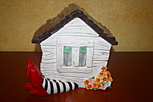 Dorothy's House On Witches Legs Cookie Jar