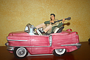 Elvis Pink Cadilac Cookie Jar
