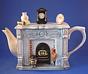Fireplace British Teapot