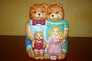 Goldilocks & The Three Bears Cookie Jar