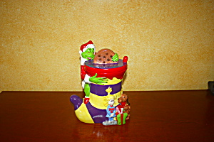 The Grinch Xmas Stocking Cookie Jar