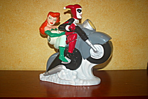 Harley Quinn & Poison Ivy On Motorcycle Cj