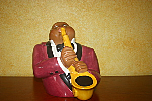 Jazz Player Cookie Jar