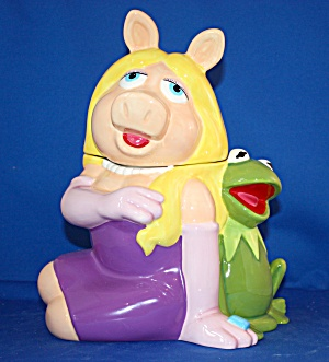 Kermit And Piggy Cookie Jar