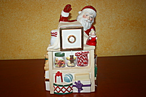 Lenox Santa Photographer Musical Candy Jar