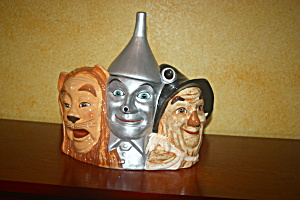 Lion, Scarecrow And Tin Man Cookie Jar