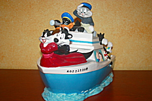Looney Tunes Crusing Boat Cookie Jar