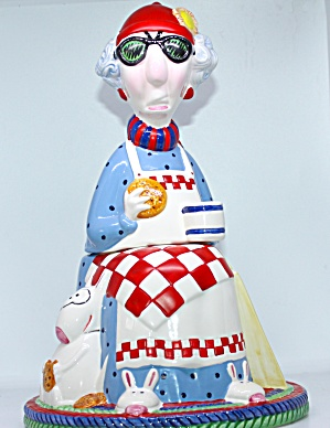 Maxine With Slippers Cookie Jar