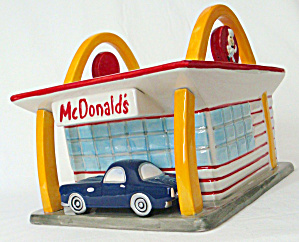 Mcdonald's Cookie Jar With Vinttage Car