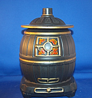 MCCOY BLACK POT BELLY STOVE COOKIE JAR (Image1)