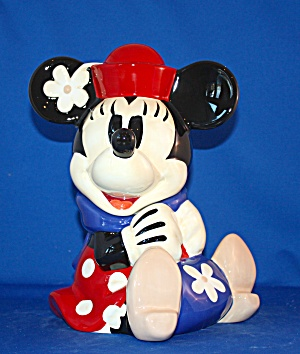 Minnie With Flower In Hat Cookie Jar