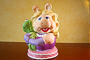 Miss Piggy & Kermit Hugging Cookie Jar