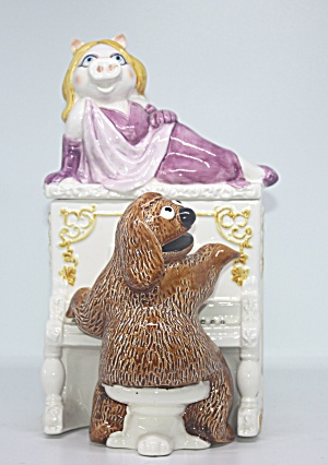 Rare Miss Piggy On Top Of Piano With Rowlf