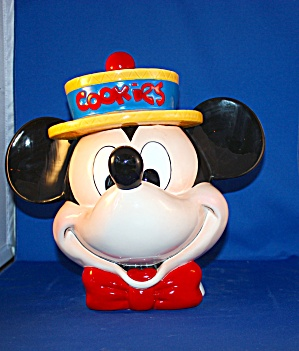 Mickey Straw Hat Cookie Jar