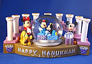 MICKEY & MINNIE HAPPY HANUKKAH MENORAH (Image1)