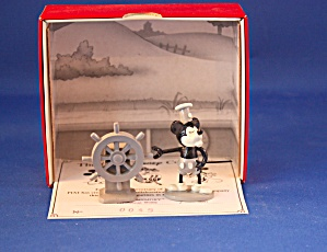 M M STEAMBOAT WILLIE DISNEY  HAND PAINTED MET (Image1)