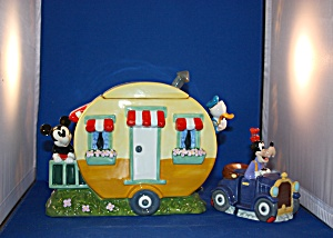 Mickey's Trailer Cookie Jar And Salt & Pepper