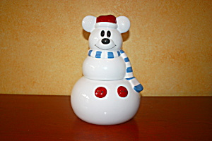MICKEY SNOWMAN COOKIE JAR (Image1)
