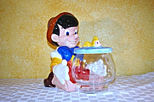 PINOCCHIO WITH FISH BOWL COOKIE JAR (Image1)