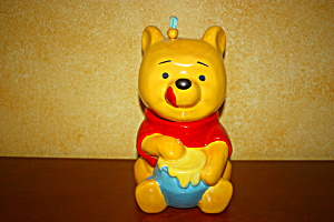 Pooh & Honey Pot With Bee On Head Cookie Jar