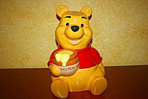 Pooh Holding Honey Pot Cookie Jar