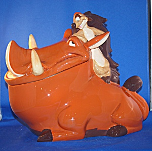 PUMBA & TIMON SAMPLE COOKIE JAR AND ART WORK (Image1)