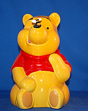 Pooh With Bee On Nose Cookie Jar