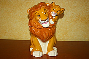 Simba And Mufasa Cookie Jar