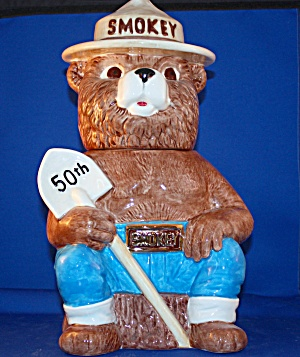SMOKEY THE BEAR 50TH ANNIVERSARY COOKIE JAR (Image1)