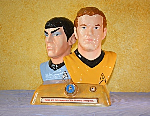Spock & Kirk Cookie Jar