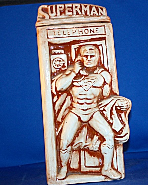 Superman In Phone Booth Cookie Jar