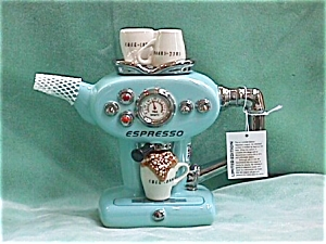 Espresso Machine Blue Teapot