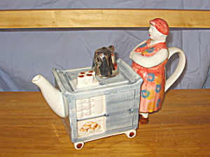 Tea Cart Lady British Teapot
