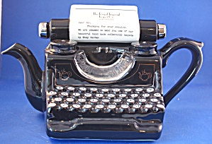 Typewriter British Teapot