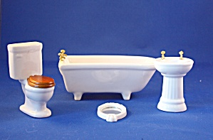 White 4 Piece Bathroom Set