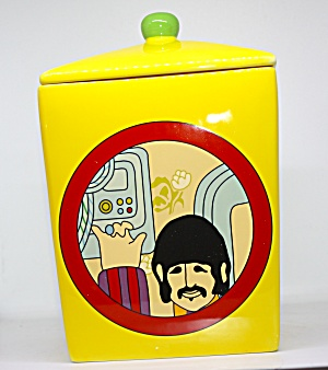 Yellow Submarine Four Sided Cookie Jar