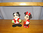 Santa Mickey & Minnie Salt & Pepper