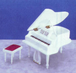 Click here to enlarge image and see more about item 5012: GRAND PIANO WHITE