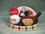 Click here to enlarge image and see more about item 6005: COKE GOLF SALT & PEPPER