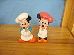 MICKEY & MINNIE CHEFS SALT & PEPPER