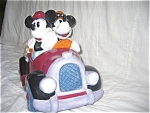 MICKEY AND MINNIE IN ROADSTER COOKIE JAR