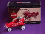 Click here to enlarge image and see more about item AD003: COKE PEDAL PLANE